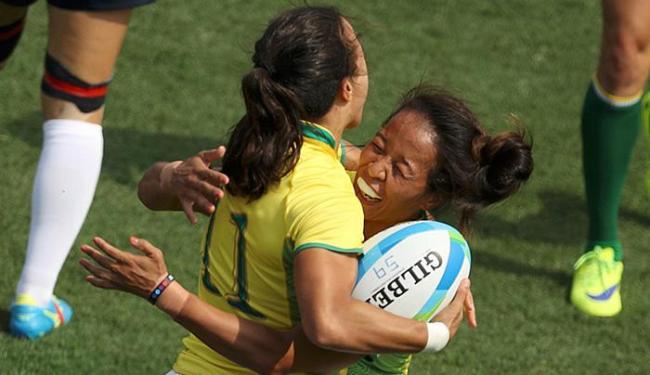 Jogadoras brasileiras vibram após vitória por 33 a 5 - Foto: Phil Noble l Reuters