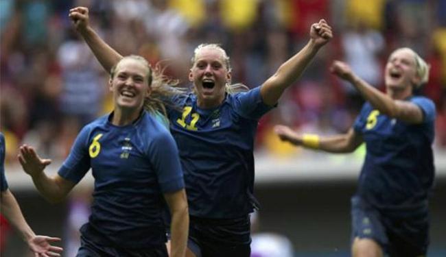 Seleção sueca eliminou as norte-americanas da disputa por uma medalha na Rio 2016 - Foto: Ueslei Marcelino l Reuters