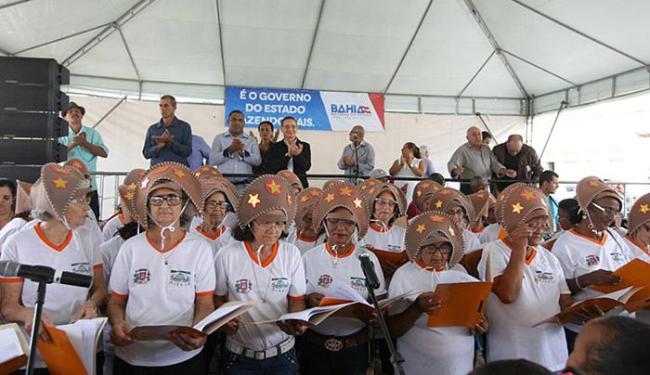 Solenidade no semiárido baiano marca autorização de obras que garantirão água - Foto: Pedro Moraes (Gov-BA) l Divulgação