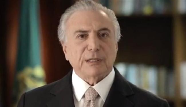 No pronunciamento, Temer citou reformas e pediu a colaboração dos brasileiros - Foto: Reprodução
