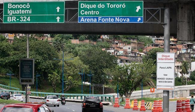 Vales e avenidas adjacentes ao estádio serão bloqueados nos dias de partida, como no período da Copa - Foto: Mila Cordeiro l Ag. A TARDE l 3.6.2013