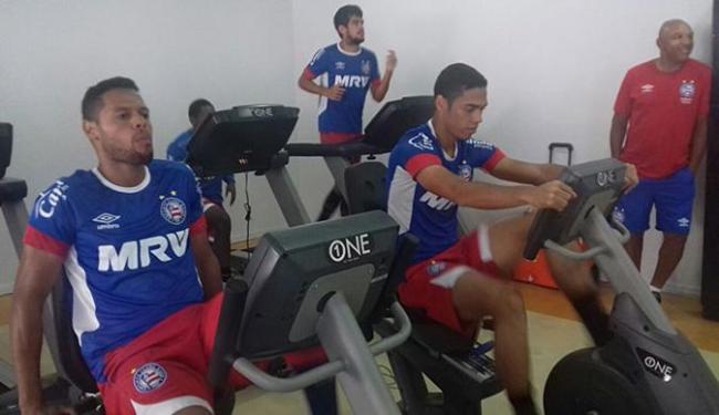 Após empate, elenco tricolor treinou pela manhã em Joinville - Foto: Divulgação l EC Bahia