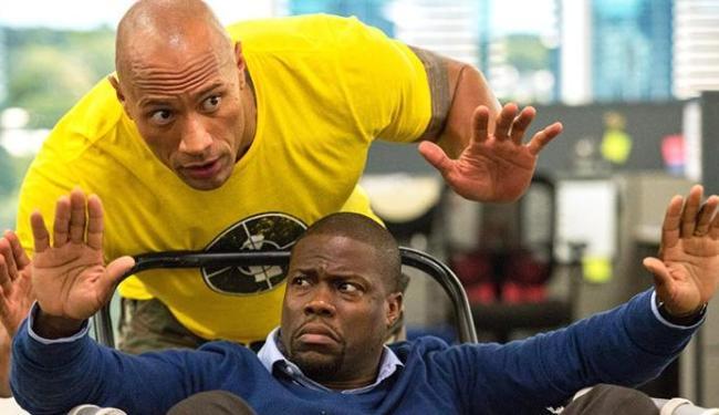 The Rock e Hart formam uma divertida dupla - Foto: Divulgação