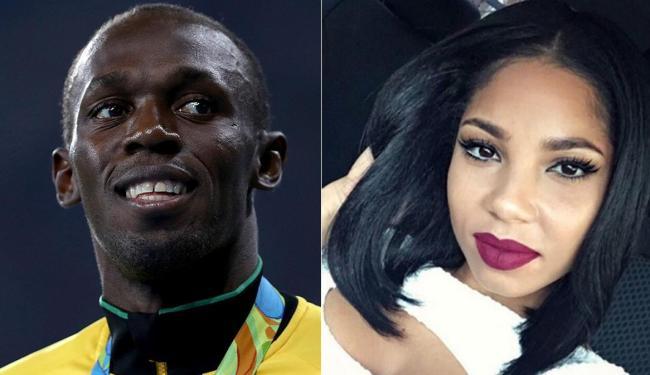 Usain Bolt e a namorada jamaicana Kasi J. Bennett - Foto: Reprodução