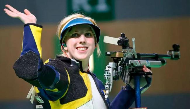 Com 19 anos e na primeira Olimpíada, Virginia Thrasher desbancou campeãs olímpicas - Foto: Agência Reuters