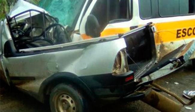 Motorista da picape não resistiu aos ferimentos - Foto: Reprodução   Site Vitória da Conquista Notícias
