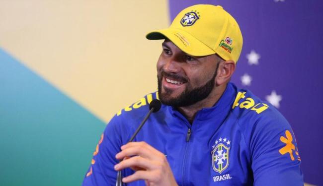 Apesar de se juntar à seleção a quatro dias da estreia, Weverton garante estar preparado para jogar - Foto: Lucas Figueiredo | MoWa Press