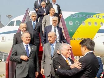 Temer foi a China acompanhado de Renan Calheiros e de ministros - Foto: Beto Barata | Presidência da República