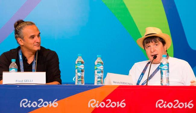 Fred Gelli e Marcelo Rubens Paiva falaram sobre a abertura da Paralimpíada - Foto: Gabriel Nascimento | Rio 2016