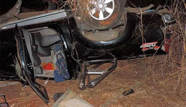 Bebê teve ferimentos leves no acidente - Foto: Reprodução   Blog do Braga