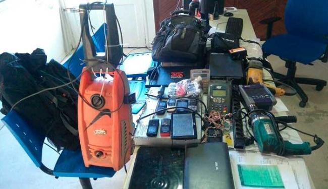 Na casa de Márcio, foram encontrados vários objetos furtados - Foto: Ascom-PC | Divulgação