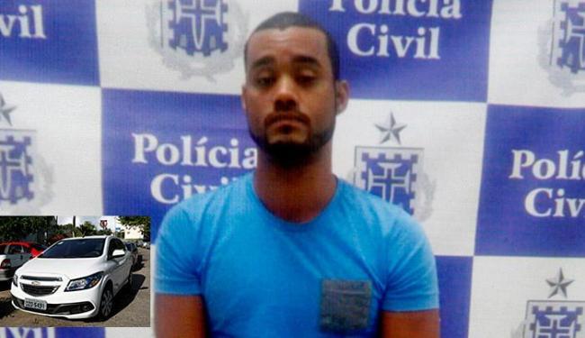 Antônio responde a três inquéritos por roubo em várias delegacias; Onix estava com placa clonada - Foto: Reprodução l Mila Cordeiro