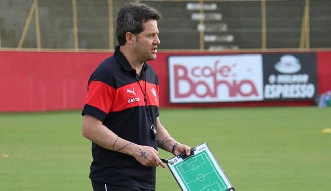 Argel comandou nesta terça-feira, 13, seu primeiro treino. Para a estreia, deve manter a base - Foto: Francisco Galvão l EC Vitória
