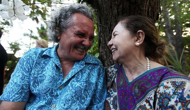 Os atores Hamilton Lima e Salete Saraiva representaram o casal de escritores Jorge Amado e Zélia - Foto: Adilton Venegeroles | Ag. A TARDE