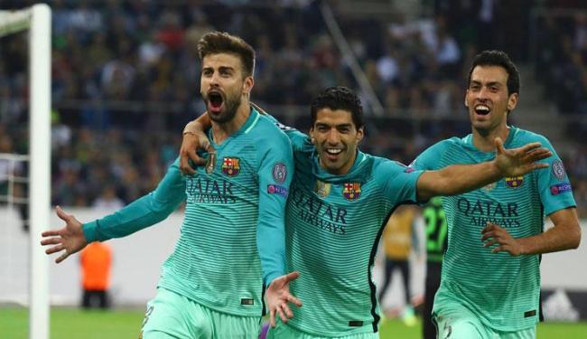 Piqué fez o gol e garantiu a virada do Barcelona - Foto: Kai Pfaffenbach | Reuters