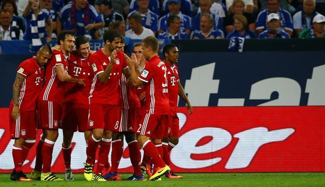 Lewandowskifez o primeiro, Kimmich fez o segundo na vitória de 2 a 0 do Bayern - Foto: Thilo Schmuelgen | Reuters