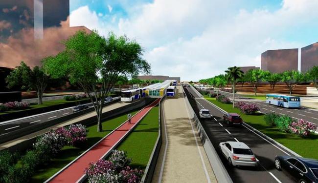 Sistema será implantado entre as estações da Lapa e Iguatemi, em corredor formado por viadutos - Foto: Agecom | Divulgação