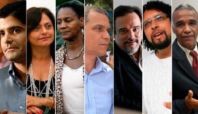 ACM Neto, Alice Portugal, Célia Sacramento, Claudio Silva, Da Luz, Fábio Nogueira e Sgt. Isidório - Foto: Agência A TARDE