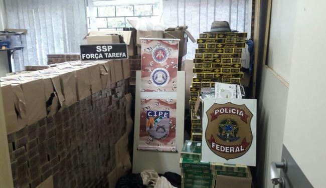 Polícia apreendeu o carregamento de cigarros que ia para Itabuna - Foto: Divulgação   DPF