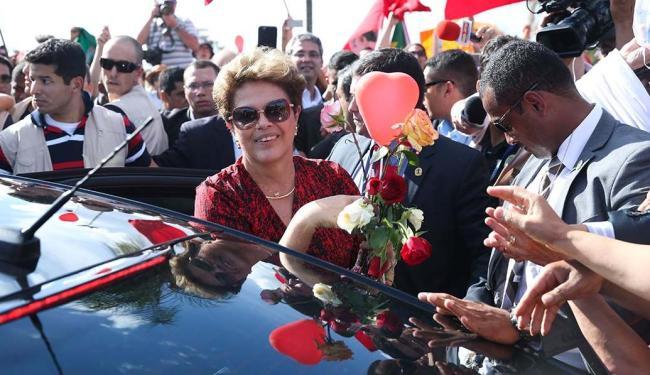 Ex-presidente Dilma fala da deposição e pede voto na campanha - Foto: Wilson Dias | Agência Brasil