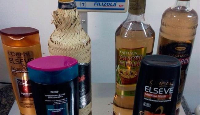 Droga estava diluída em garrafas de bebida e frascos de shampoo - Foto: Divulgação