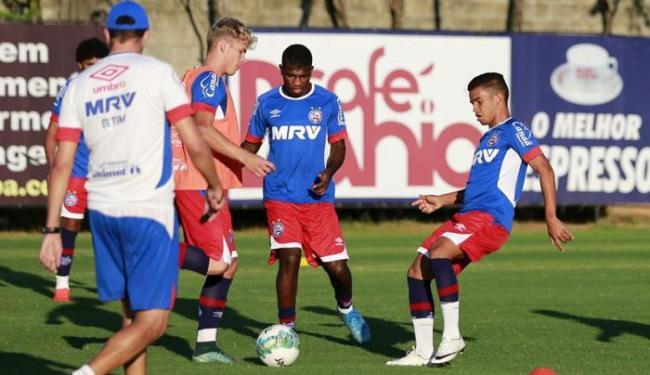 O elenco do Bahia treinou forte na tarde desta segunda-feira, 19 - Foto: Felipe Oliveira | EC Bahia