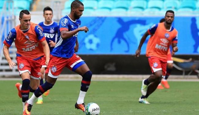 Bahia treinou forte nesta quinta-feira, 29, de olho no jogo contra o Criciúma - Foto: Felipe Oliveira | EC Bahia