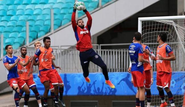 Muriel só tinha levado 3 gols em 8 jogos até sofrer mais 6 nas últimas 3 partidas - Foto: Felipe Oliveira   EC Bahia