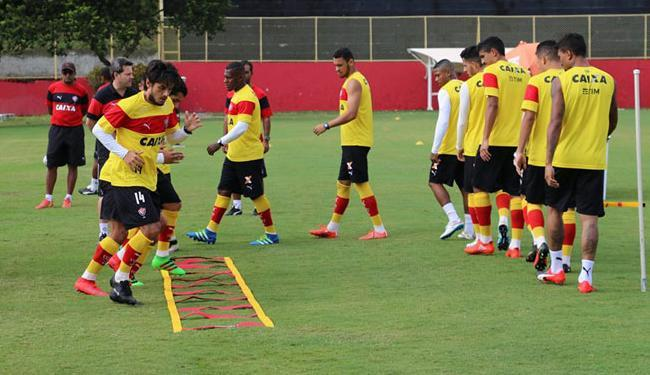 Jogadores fizeram a última atividade antes do duelo desta quinta-feira - Foto: Francisco Galvão | EC Vitória