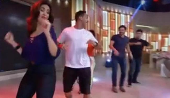 Fátima mostrou o remelexo durante o programa - Foto: Reprodução