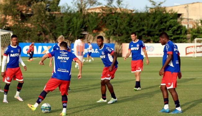 Os jogadores reservas do Bahia foram a campo nesta segunda-feira, 26 - Foto: Felipe Oliveira | EC Bahia