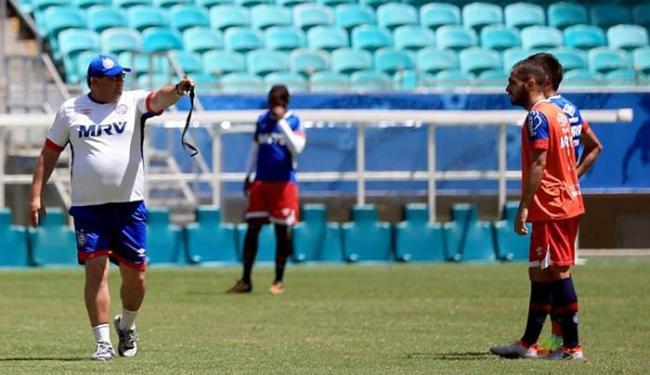 Guto quer time focado apenas no adversário e não na tabela - Foto: Felipe Oliveira l EC Bahia
