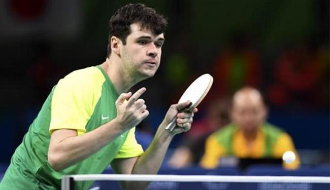 Israel Stroh faturou a primeira individual do Brasil em tênis de mesa - Foto: Tânia Rêgo l Agência Brasil
