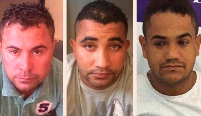 Kekey (do meio) e os comparsas eram investigados há um ano - Foto: Divulgação | SSP