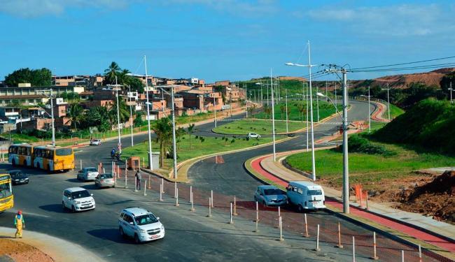 Obra integra a futura 29 de Março, responsável pela ligação entre a avenida Orlando Gomes e a BR-324 - Foto: Lucas Pondé | Ascom-Conder | Divulgação