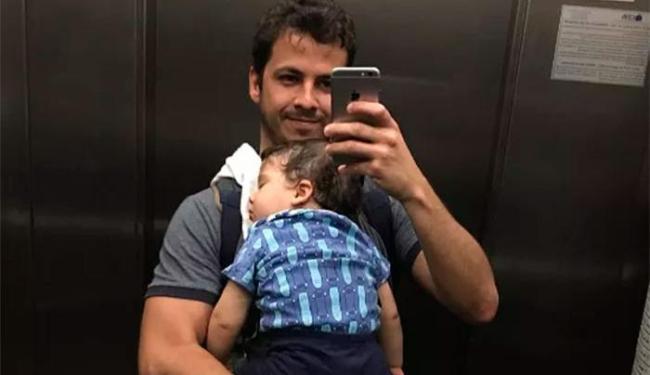 O Instagram de Matheus é repleto de fotos com o pequeno Gabriel, de 1 ano - Foto: Reprodução   Instagram