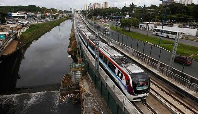 Trem do metrô da capital é testado entre as novas estações Detran e Rodoviária - Foto: Elói Corrêa   GOVBA