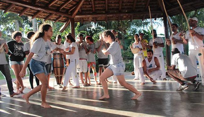 Oficina de capoeira fez parte de uma etapa seletiva - Foto: Antônio Carvalho l Divulgação
