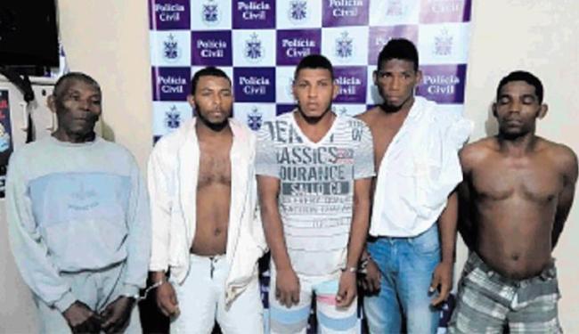 O pai e os quatro filhos foram presos - Foto: Divulgação | SSP/BA