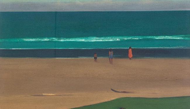 As linhas horizontais e as figuras estáticas predominam nas telas de Pancetti - Foto: Anthony Paz | Santa Casa