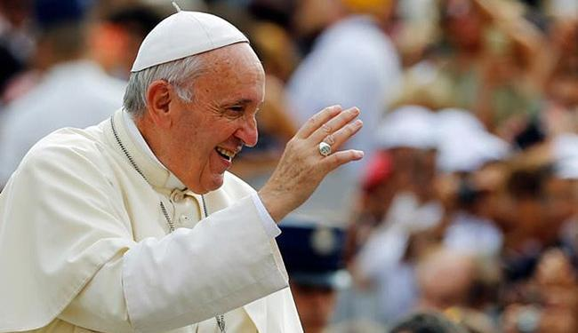 O papa Francisco conduziu a cerimônia de canonização na manhã deste domingo, 4 - Foto: Stefano Rellandini l Reuters