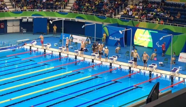 Os brasileiros chegaram perto do pódio na primeira noite da natação paralímpica - Foto: Reprodução | Twitter | Brasil 2016