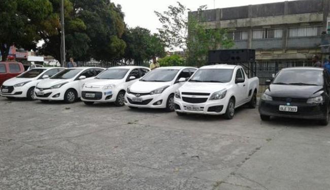 Veículos apreendidos com placas clonadas - Foto: Divulgação