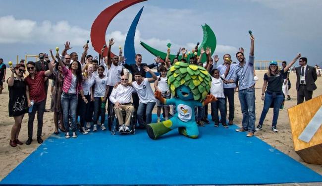 Atletas paralímpicos participaram da cerimônia de inauguração dos Agitos - Foto: Marcio Rodrigues   CPB   MPIX