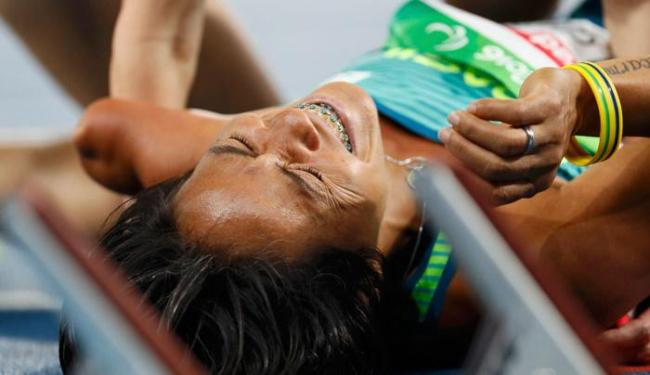 Teresinha de Jesus não participou da final dos 400m por causa de uma contusão - Foto: Jason Cairnduf   Reuters