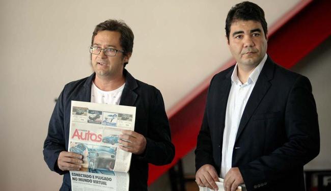 Roberto Nunes e Emanuel Soares falaram do produto - Foto: Raul Spinassé | Ag. A TARDE