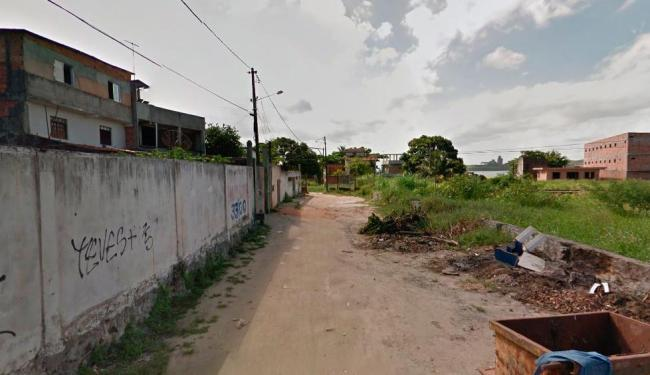 O ataque ocorreu na rua do Fogo, no bairro de Paripe - Foto: Reprodução   Google Maps