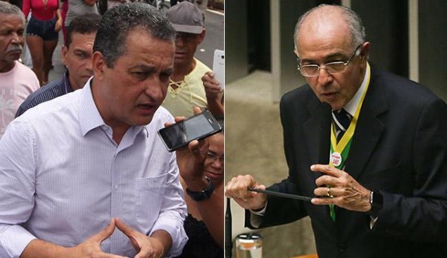 Rui destaca obras do governo na capital; Aleluia critica intenção de nacionalizar campanha - Foto: Raul Spinassé l Ag. A TARDE e Marcelo Camargo l Agência Brasil