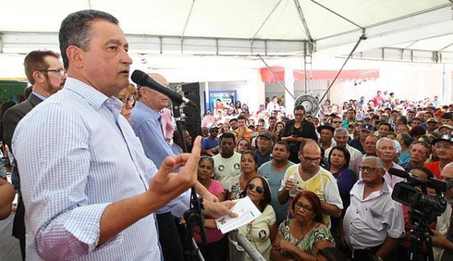 Governador fala em solenidade na cidade do nordeste do estado - Foto: Pedro Moraes l Gov-BA