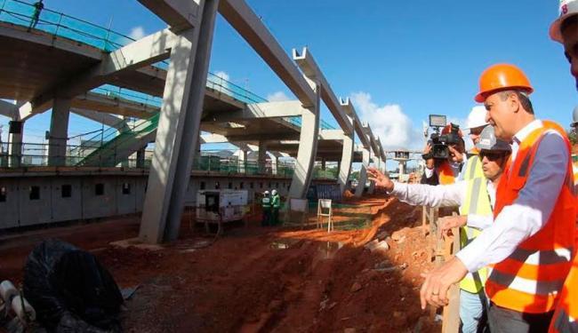 Estação, que recebeu a visita de Rui Costa, está com 44% das obras concluídas - Foto: Carol Garcia   Divulgação GOVBA